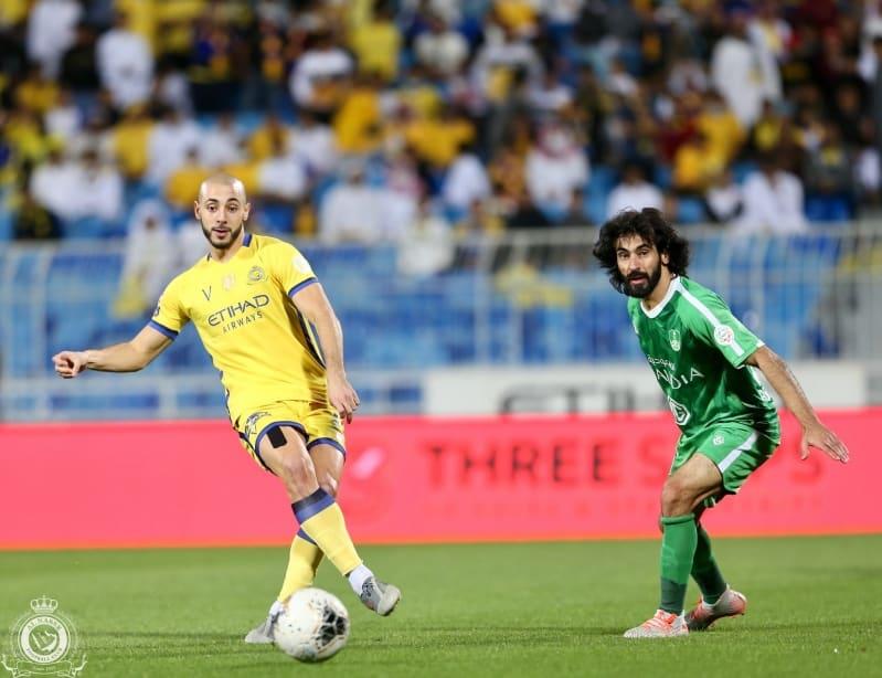 أمرابط في مباراة النصر ضد الاهلي