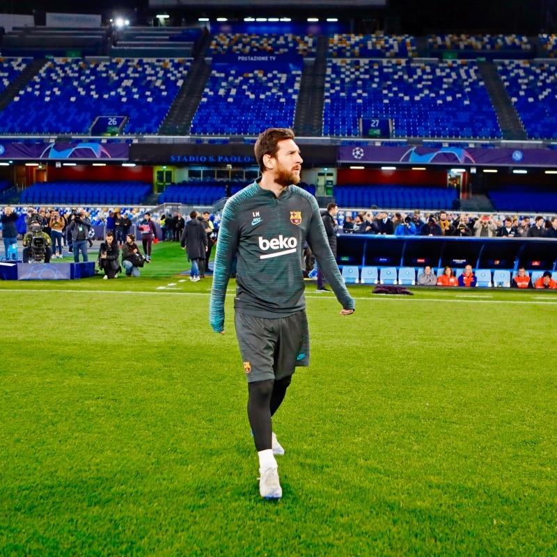 ميسي قبل مباراة نابولي ضد برشلونة