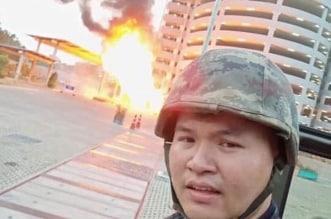 بالفيديو والصور.. مقتل ضابط تايلاندي قتل رئيسه و20 آخرين - المواطن