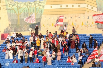 جماهير الوحدة قبل مباراة الأهلي