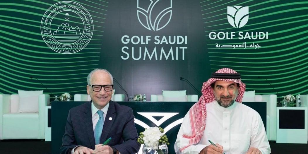 شراكة بين جولف السعودية وبوابة الدرعية لإنشاء ملعب عالمي