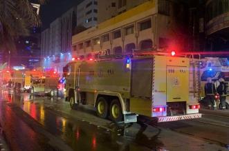 شاهد الفيديو.. إخماد حريق في واجهة مبنى بالرياض وتضرر 4 مركبات - المواطن