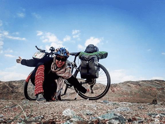 رحلة سارة هابا من تونس إلى مكة بدراجة هوائية