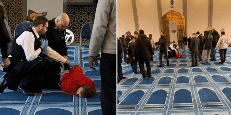 فيديو.. طعن رجل في مسجد شمال لندن