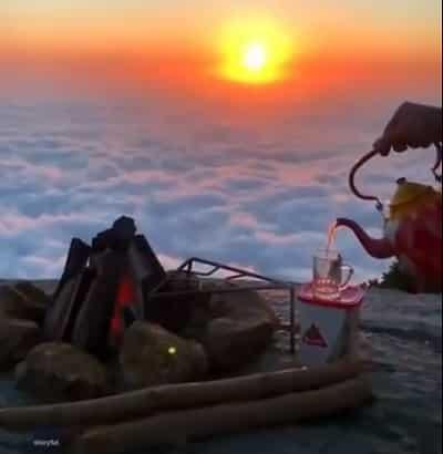 قناة أمريكية تنشر لقطات بديعة على ارتفاع 3500 متر بالمملكة