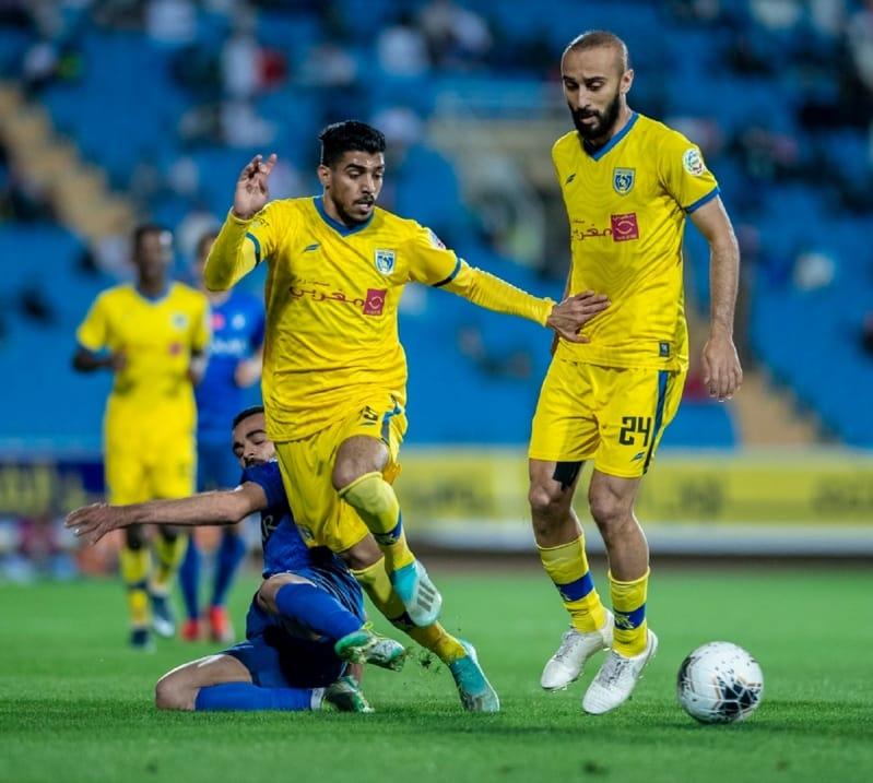 محمد السهلاوي في مباراة التعاون ضد الهلال