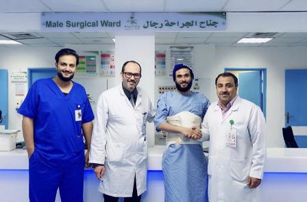 تدخل جراحي ناجح يعيد الحركة لمريض بحفر الباطن 