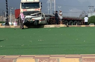 فيديو.. شاحنة تدهس سيارة وتشوه ملامحها في قلوة - المواطن