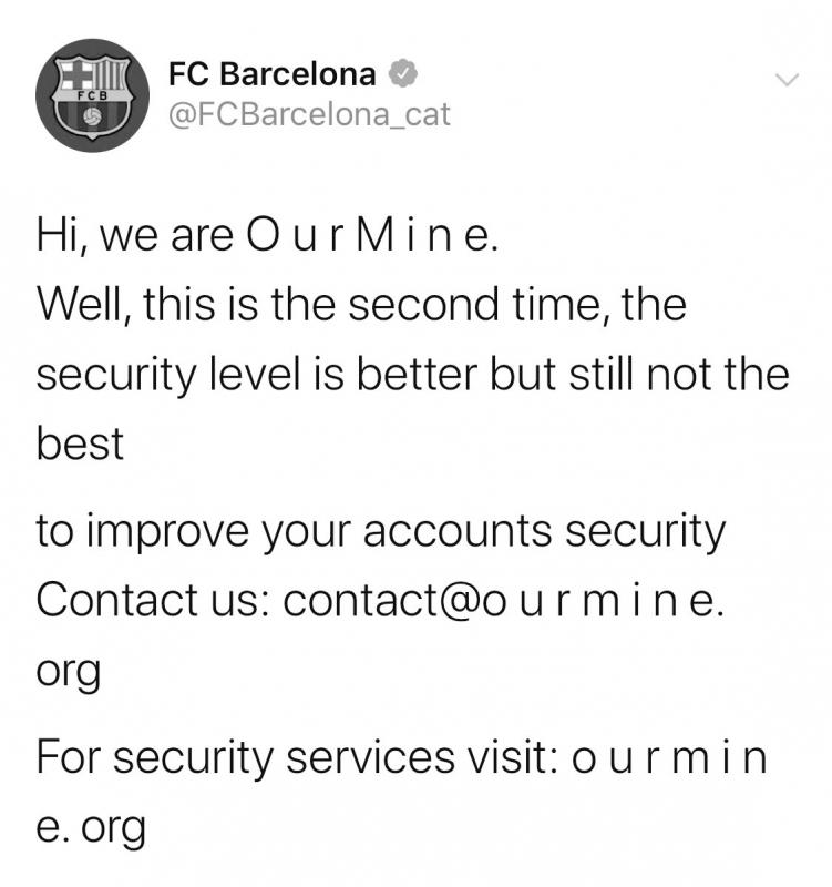 حقيقة تعرض حساب Barcelona للاختراق في تويتر - المواطن