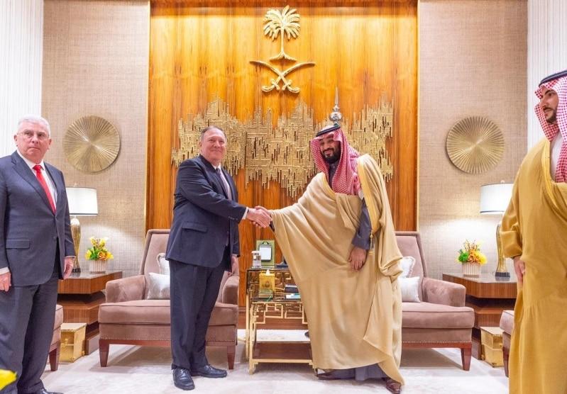 ولي العهد يبحث تطورات الأحداث الإقليمية والدولية مع وزير الخارجية الأمريكي
