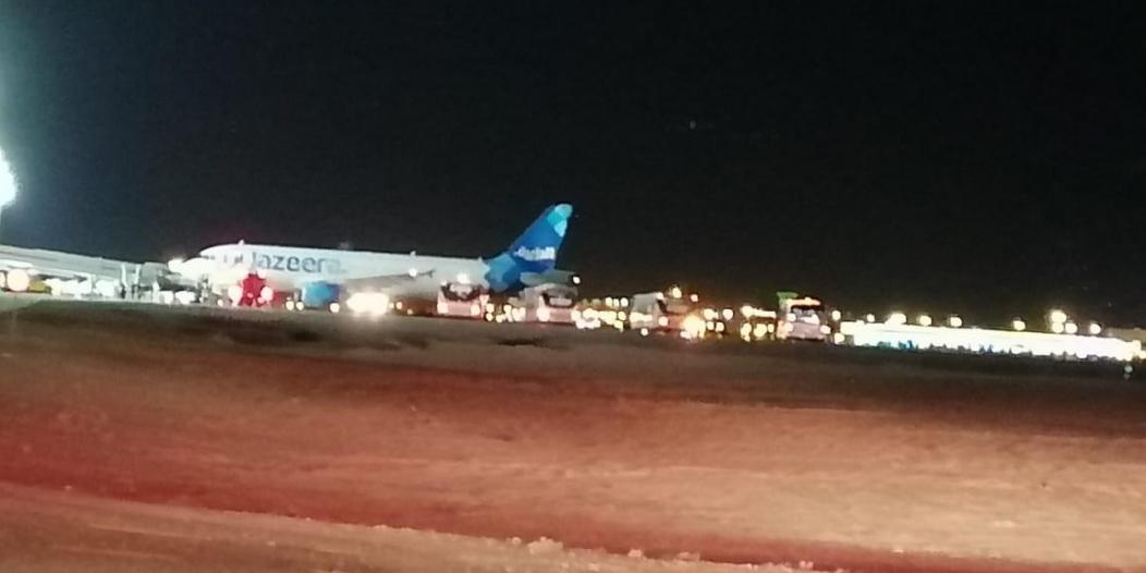 """هبوط اضطراري لطائرة كويتية بمطار تبوك.. ومصادر """"المواطن"""": الدخان السبب"""