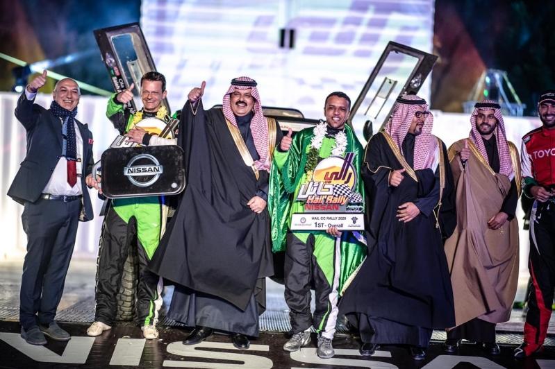 العبدالعالي يتوج ببطولة رالي حائل الدولي 2020