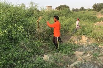 """تجاوبًا مع """"المواطن"""".. تنظيف مقبرة قرية مجعر بصامطة - المواطن"""