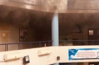 بالفيديو.. حريق يخلي مدرسة ثانوية بالقنفذة - المواطن