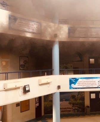 بالفيديو.. حريق يخلي مدرسة ثانوية بالقنفذة