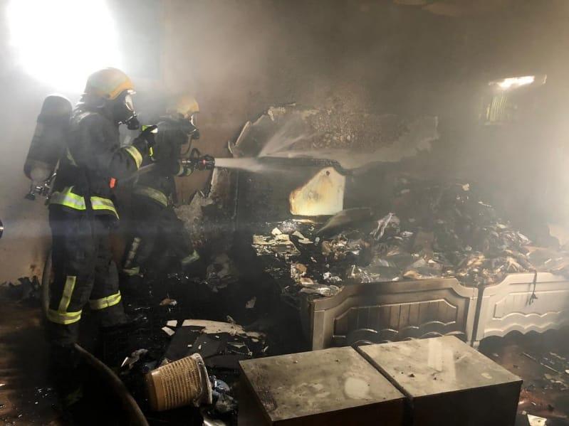 التماس يحرق منزلًا في نجران