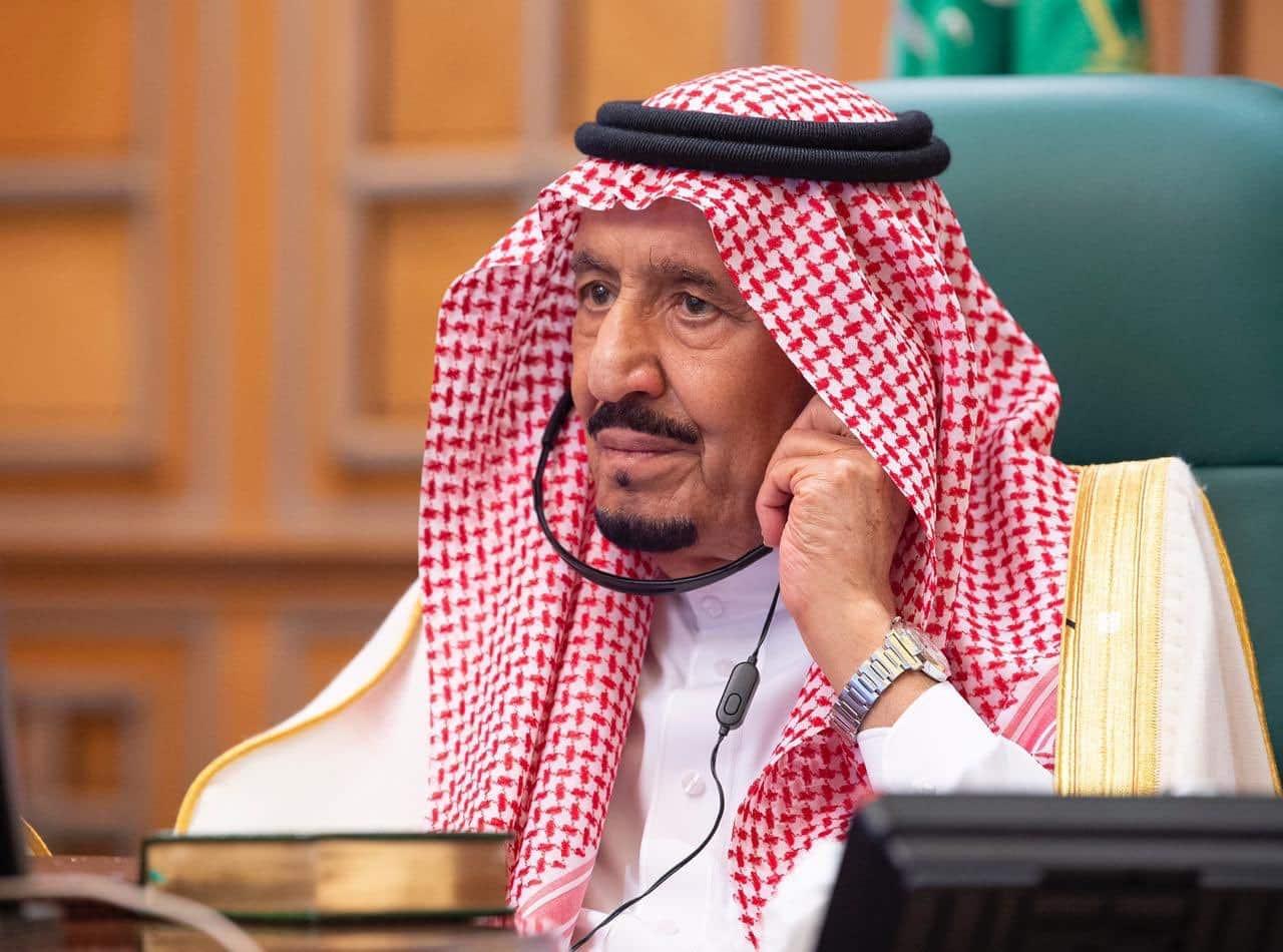 الملك سلمان في قمة العشرين الافتراضية1