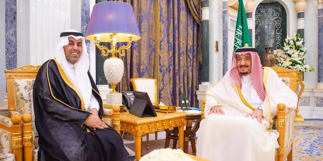 الملك سلمان يستقبل رئيس البرلمان العربي بمناسبة انتخابه لفترة ثانية