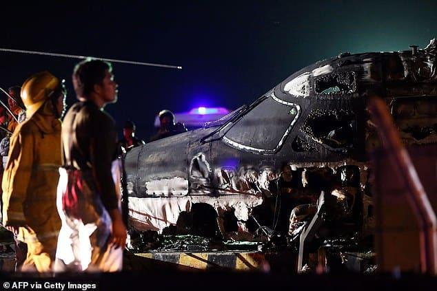 فيديو يوثق لحظة تحطم الطائرة الفلبينية أثناء إجلاء مرضى كورونا