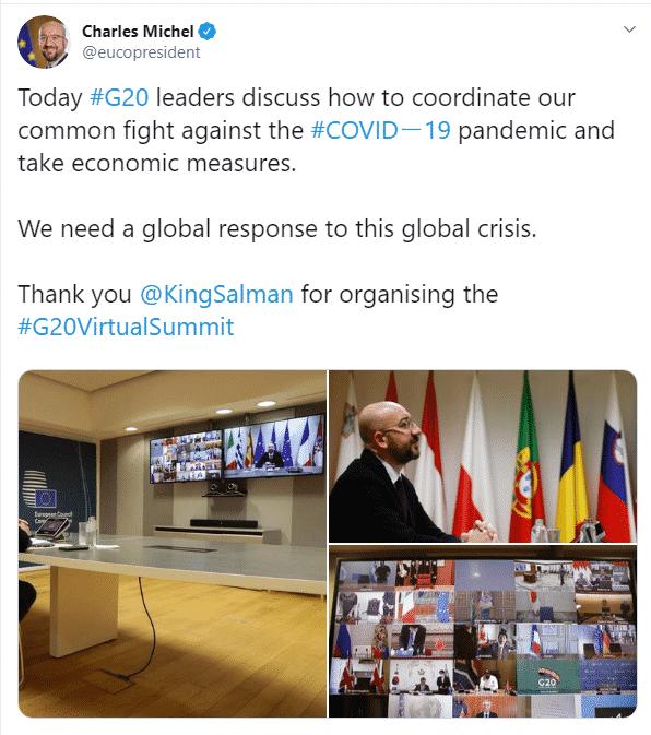 رئيس المجلس الأوروبي يشكر الملك سلمان على عقد قمة العشرين - المواطن