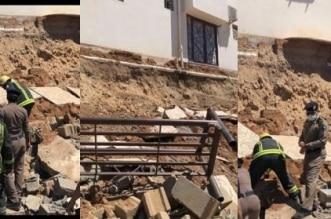 سقوط جدار في المدينة المنورة (3)