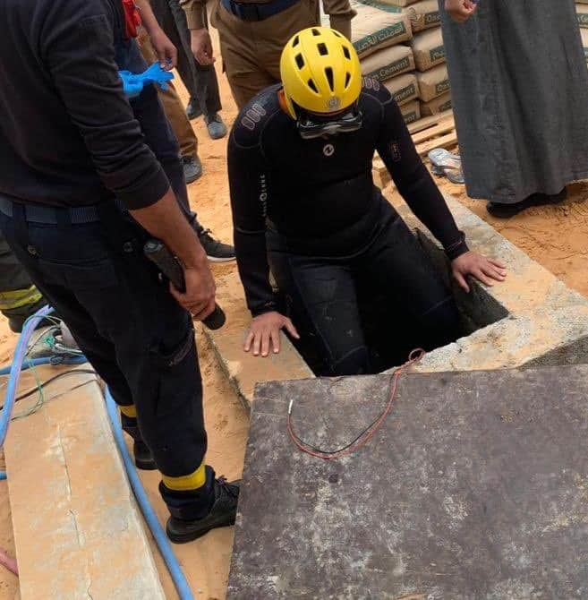سقوط طفل في خزان عمارة تحت الإنشاء ببريدة