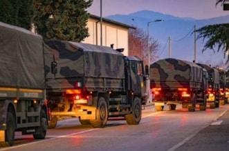 شاحنات الجيش الايطالي