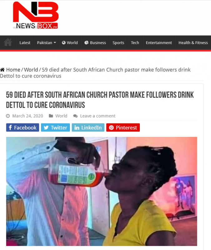 وفاة 59 شخصًا في كينيا بعد شرب مطهر الديتول ! - المواطن