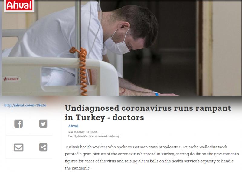 أطباء أتراك يفضحون طريقة تعامل الحكومة مع ضحايا كورونا - المواطن