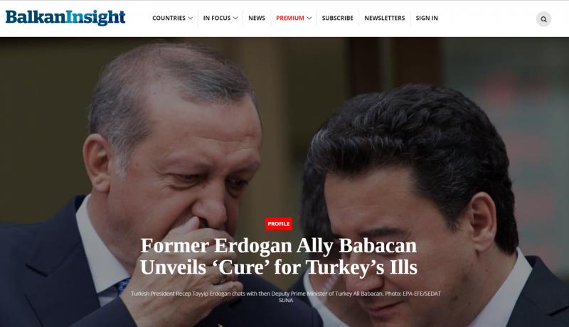 ذراع أردوغان الأيمن ينفصل عنه ويؤسس حزب العلاج المعارض - المواطن