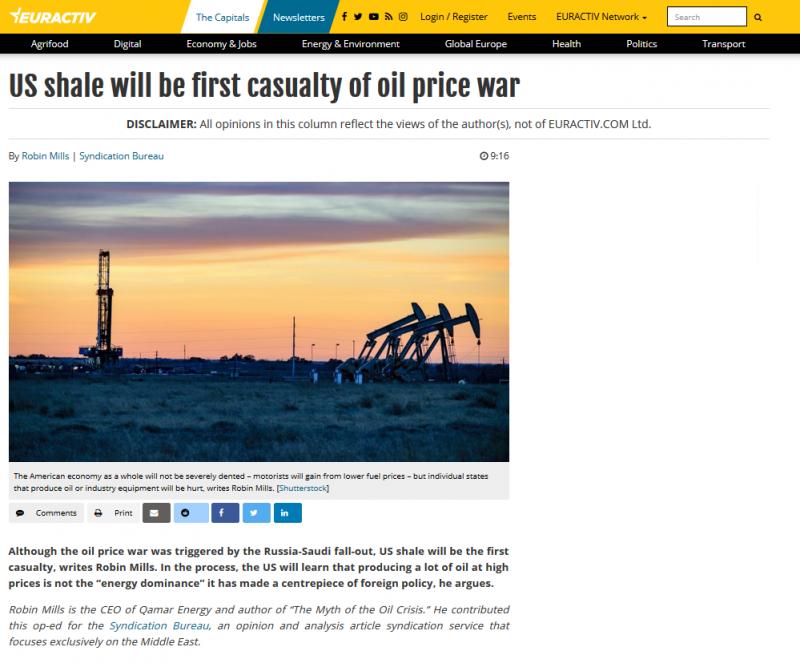 النفط الصخري بالولايات المتحدة أول ضحايا حرب الذهب الأسود - المواطن