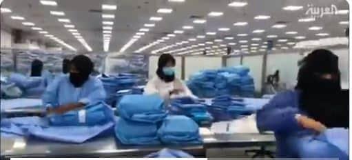 فيديو.. 160 سعودية ينتجن 50 ألف كمامة يوميًا