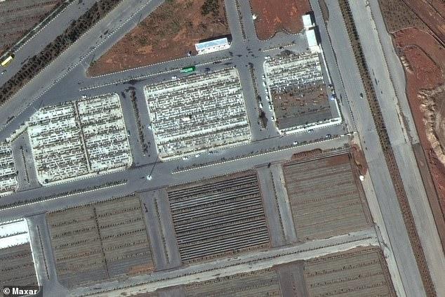 صور فضائية توثق المقابر الجماعية لضحايا فيروس كورونا في إيران