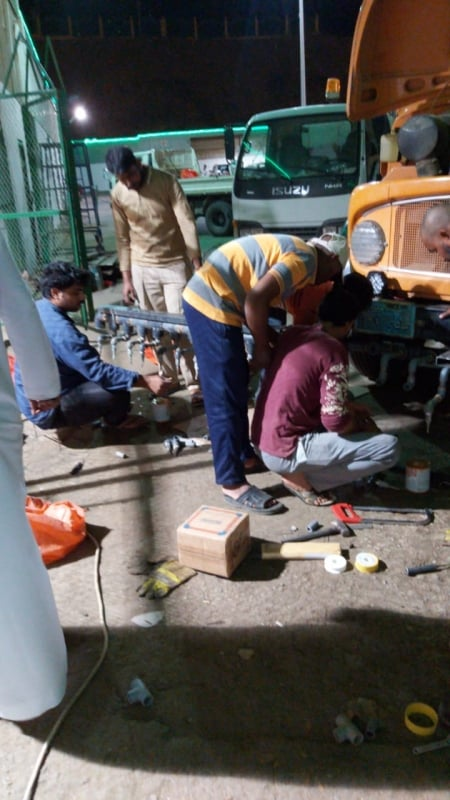فيديو وصور.. شاب يبتكر آلية لتعقيم الشوارع ضد كورونا بالباحة - المواطن