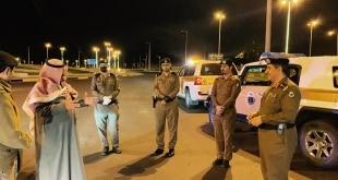 محافظ أحد رفيدة والقيادات الأمنية في الميدان لمتابعة قرار منع التجول