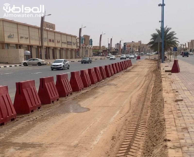 دوار جديد لفك ازدحام طريق الملك فيصل بحفر الباطن