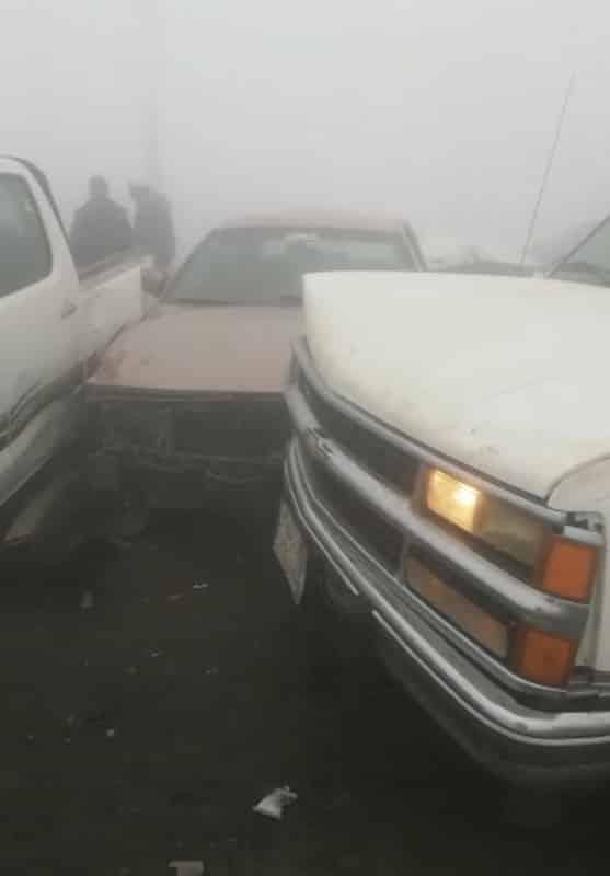 حادث مروع.. إصابات في تصادم 12 سيارة بالباحة