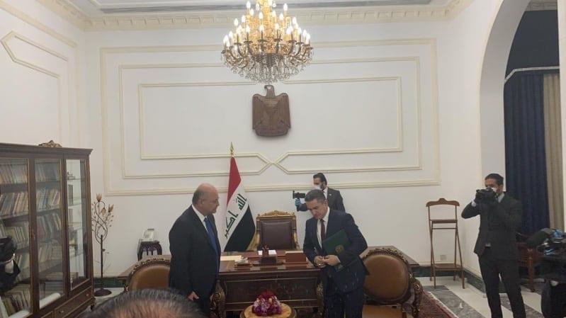 رسمياً.. الرئيس العراقي يكلف عدنان الزرفي بتشكيل الحكومة