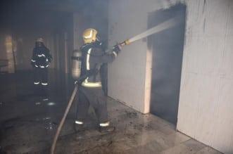 إخلاء 150 شخصاً في حريق بعمارة بالرياض - المواطن