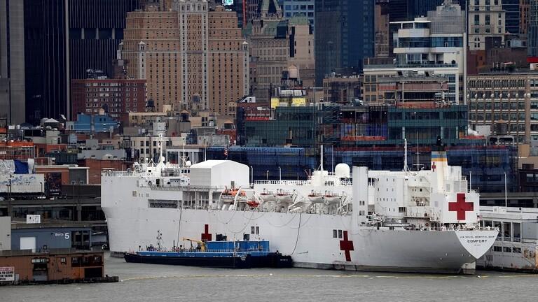 إصابات بفيروس كورونا على متن السفن المخصصة لمكافحة الوباء