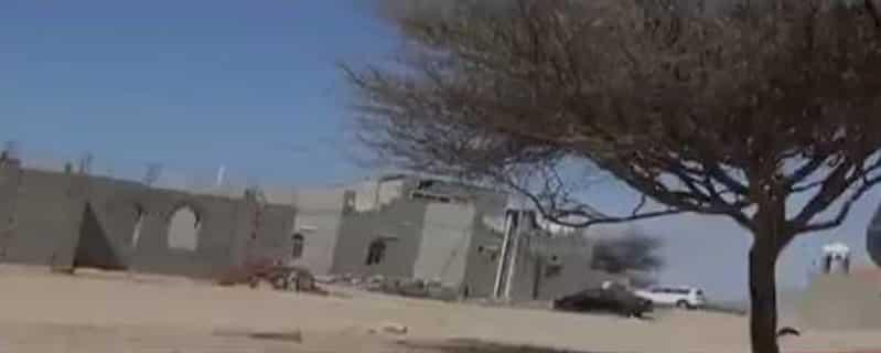 فيديو يظهر لقطات من موقع مواجهة المطلوب عبدالرحيم الحويطي بتبوك