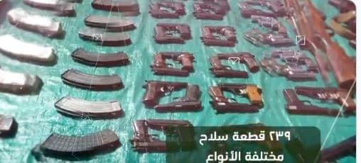 الأفواج الأمنية تحبط تهريب 74 طن قات و177كجم حشيش و9357 حبة محظورة