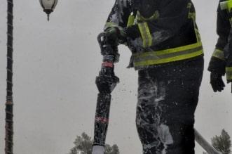 حريق محطة وقود في المدينة المنورة