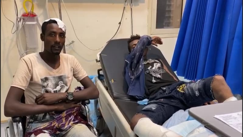 حرس الحدود يسعف أفارقة أجبرتهم ميليشيا الحوثي على العبور للسعودية