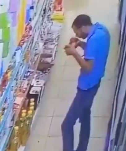 ضبط شخص ظهر بفيديو وهو يلوث عبوات مواد غذائية داخل متجرٍ ببريدة - المواطن