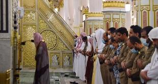 صلاة التراويح أول ليلة لشهر رمضان بالمسجد النبوي