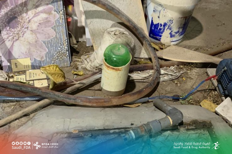 ضبط مصنع مياه مخالف لاشتراطات التخزين والتعبئة في جدة