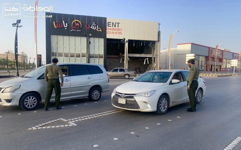 محافظة حفر الباطن تشهد التزام الأهالي بتقديم منع التجول - المواطن