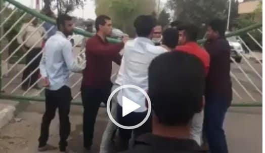 فيديو.. مواجهات بين مواطنين أحوازيين والأمن الإيراني بالشعيبية