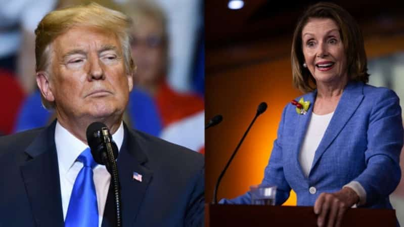 حرب شيكات تشتعل في أمريكا.. ترامب يهاجم بيلوسي: أنت دمية مجنونة
